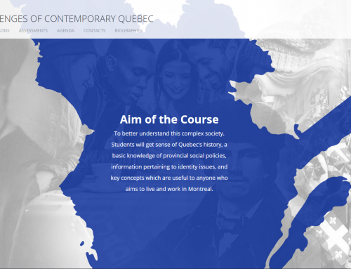 SOCI 280 – Debates and Challenges of Contemporary Quebec